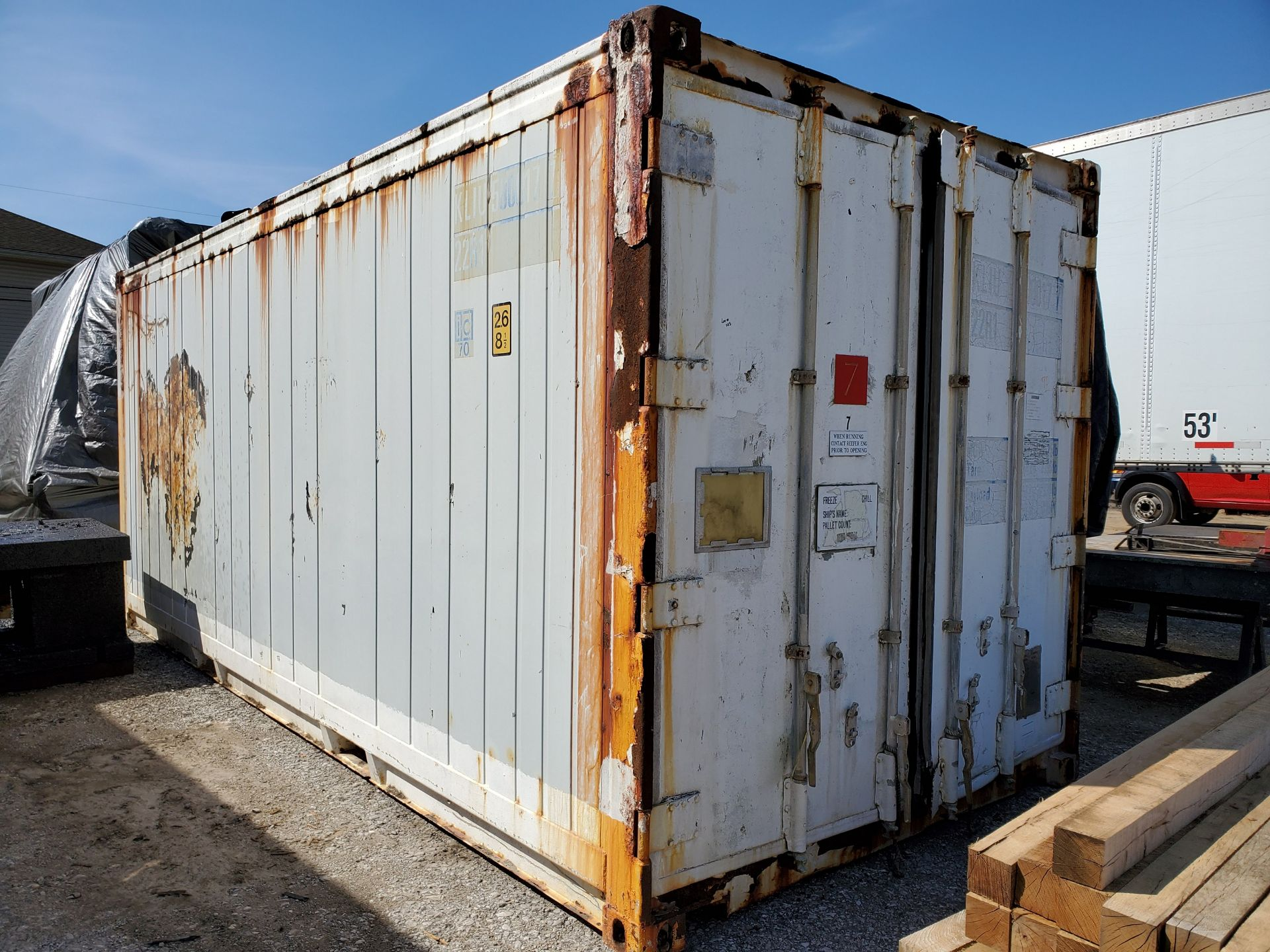 Lot 103 - REFRIGERATED CONTAINER, 20', MAX GROSS WEIGHT 59,525 LBS., S/N 101092