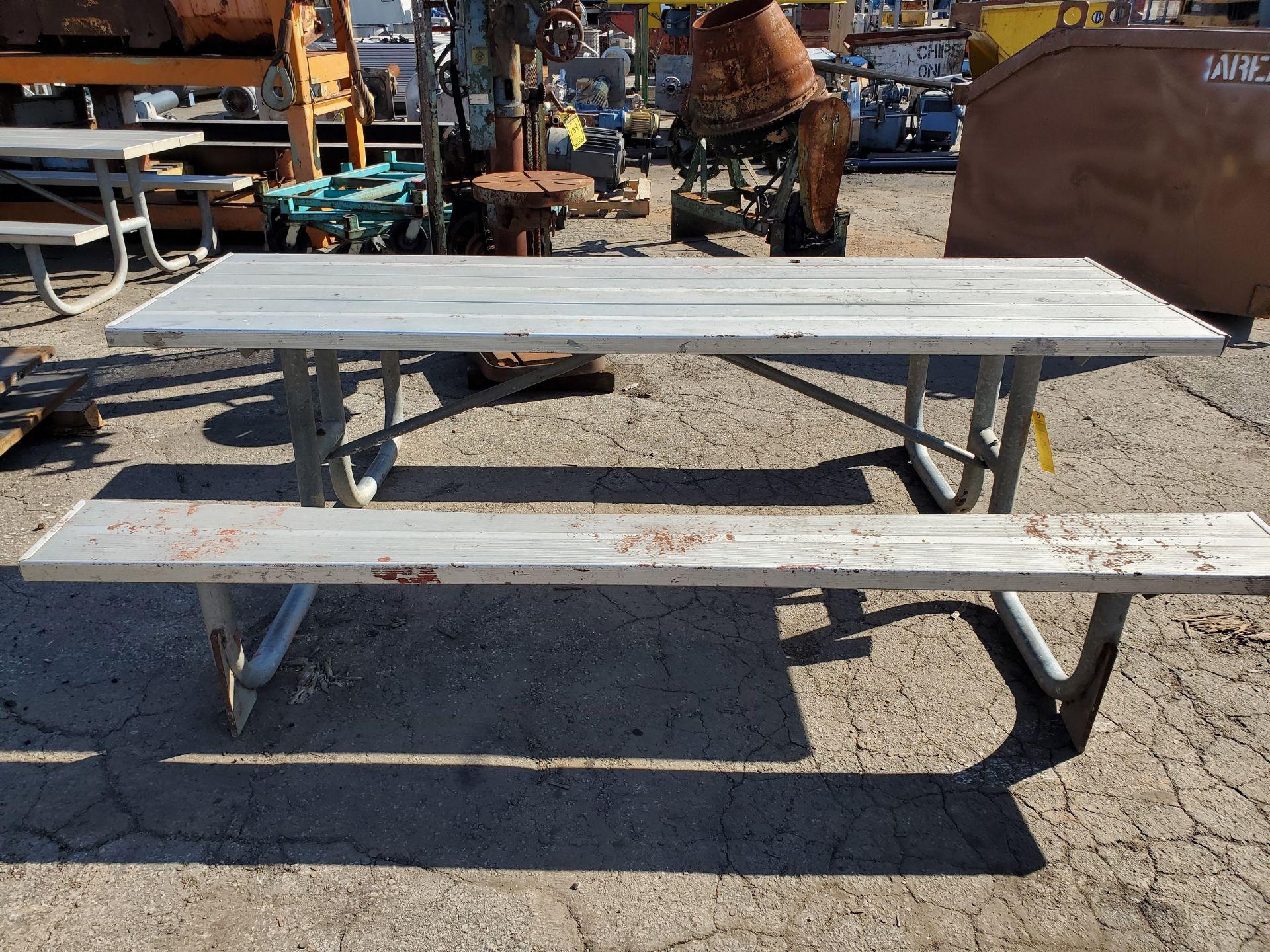 Lot 152 - 8' ALUMINUM PICNIC TABLE