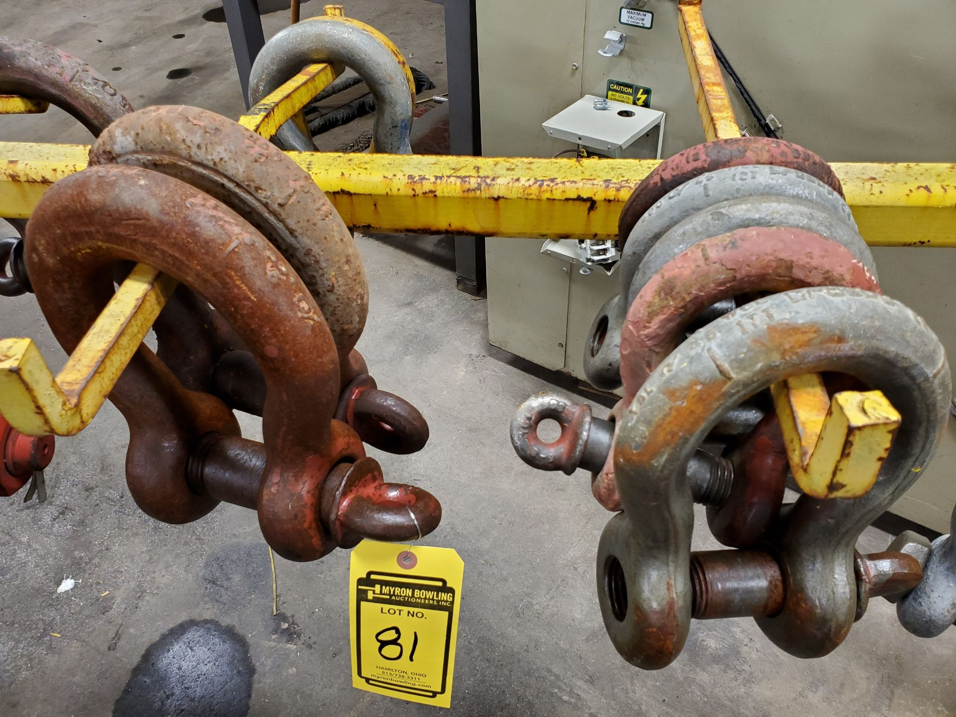Lot 81 - ASSORTED CLEVISES UP TO 52-TON (NO RACK)