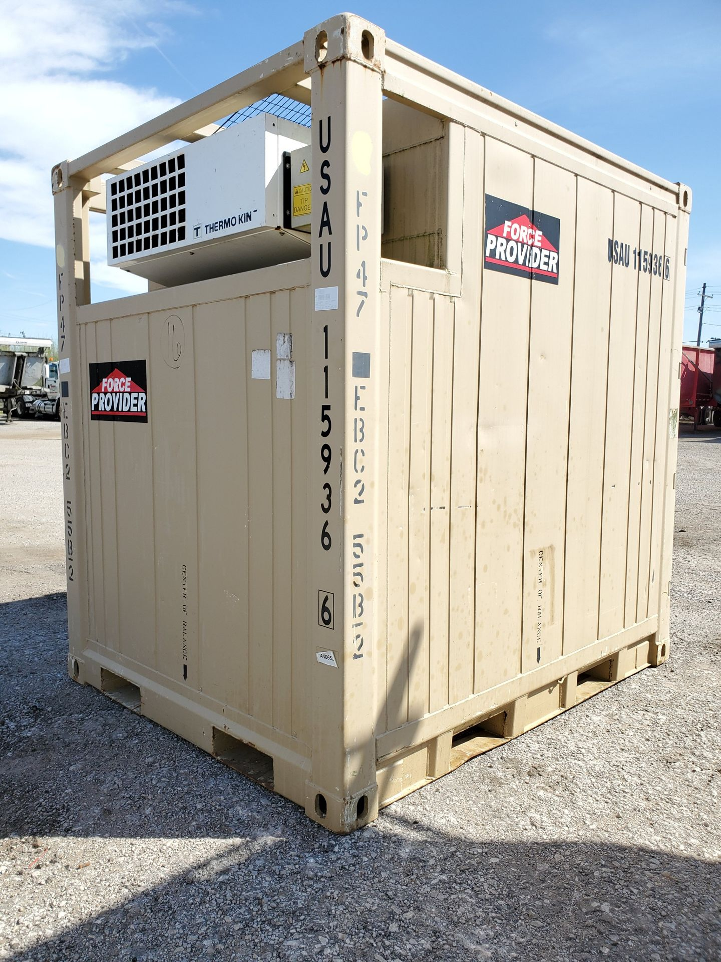 Lot 102 - 2009 FORCE PROVIDER REFRIGERATED CONTAINER 8' X 8' X 6.5', LESS THAN 200 HOURS