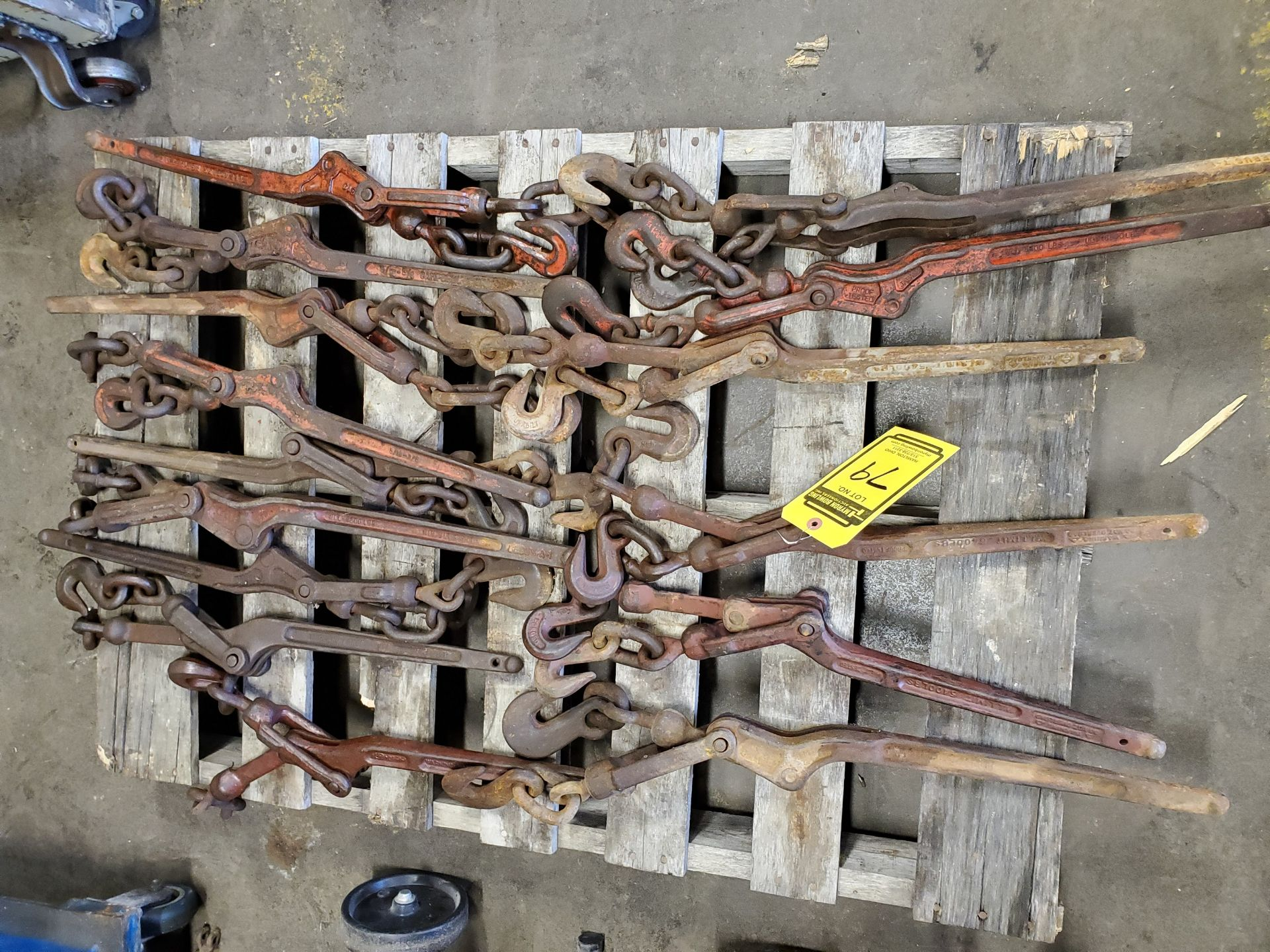 Lot 79 - PALLET W/ ASSORTED CHAIN BOOMS