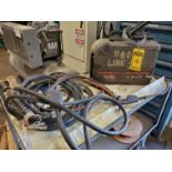 MILLER AUTO INVISION II WELDING POWER SOURCE W/ LINCOLN ELECTRIC LN-25 WIRE WELDER W/ LEADS, S/N