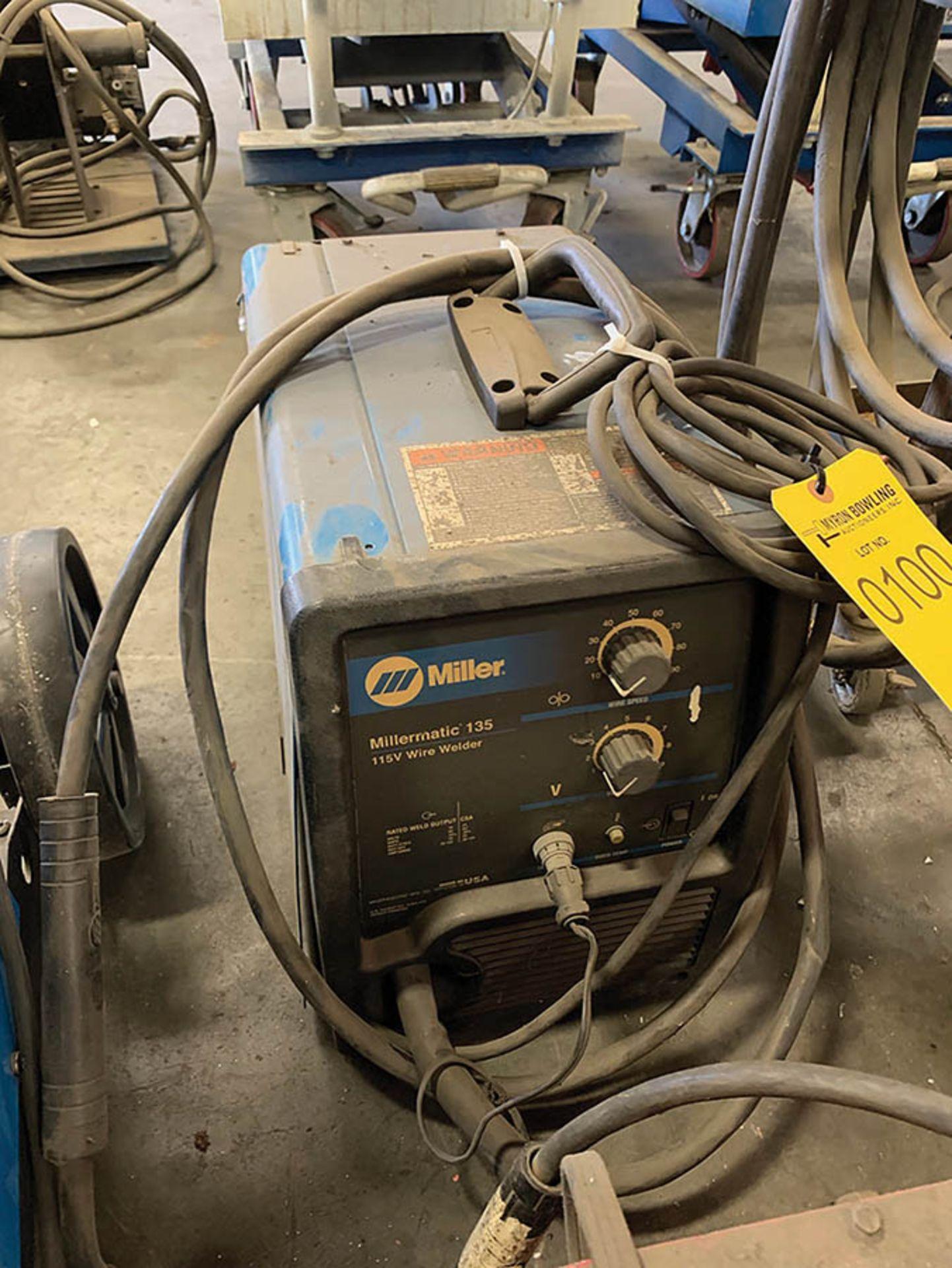 Lot 100 - MILLERMATIC 135 115V WIRE WELDER, S/N LF082187