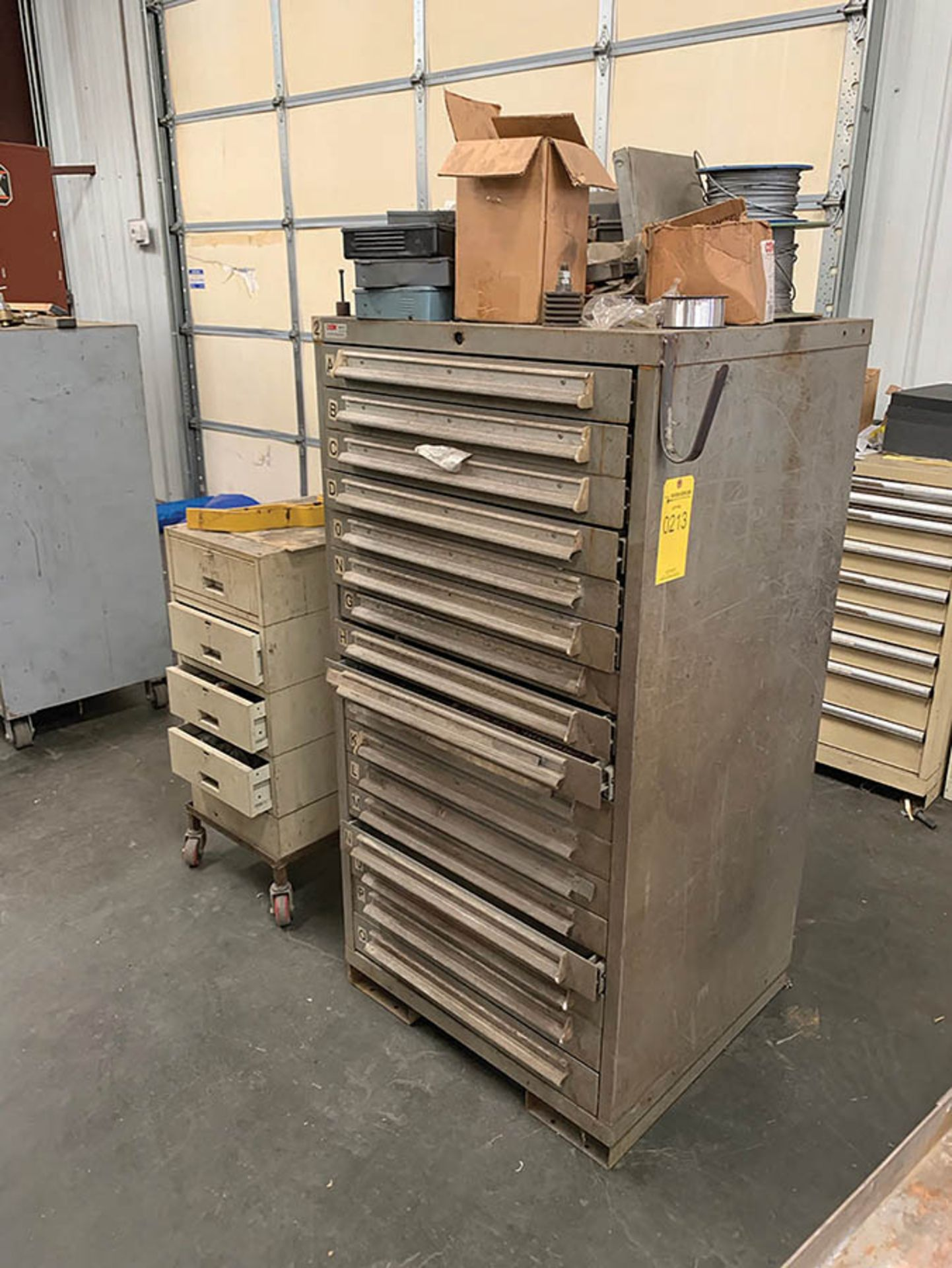 Lot 213 - (2) MULTI-DRAWER CABINETS AND CONTENTS OF PARTS