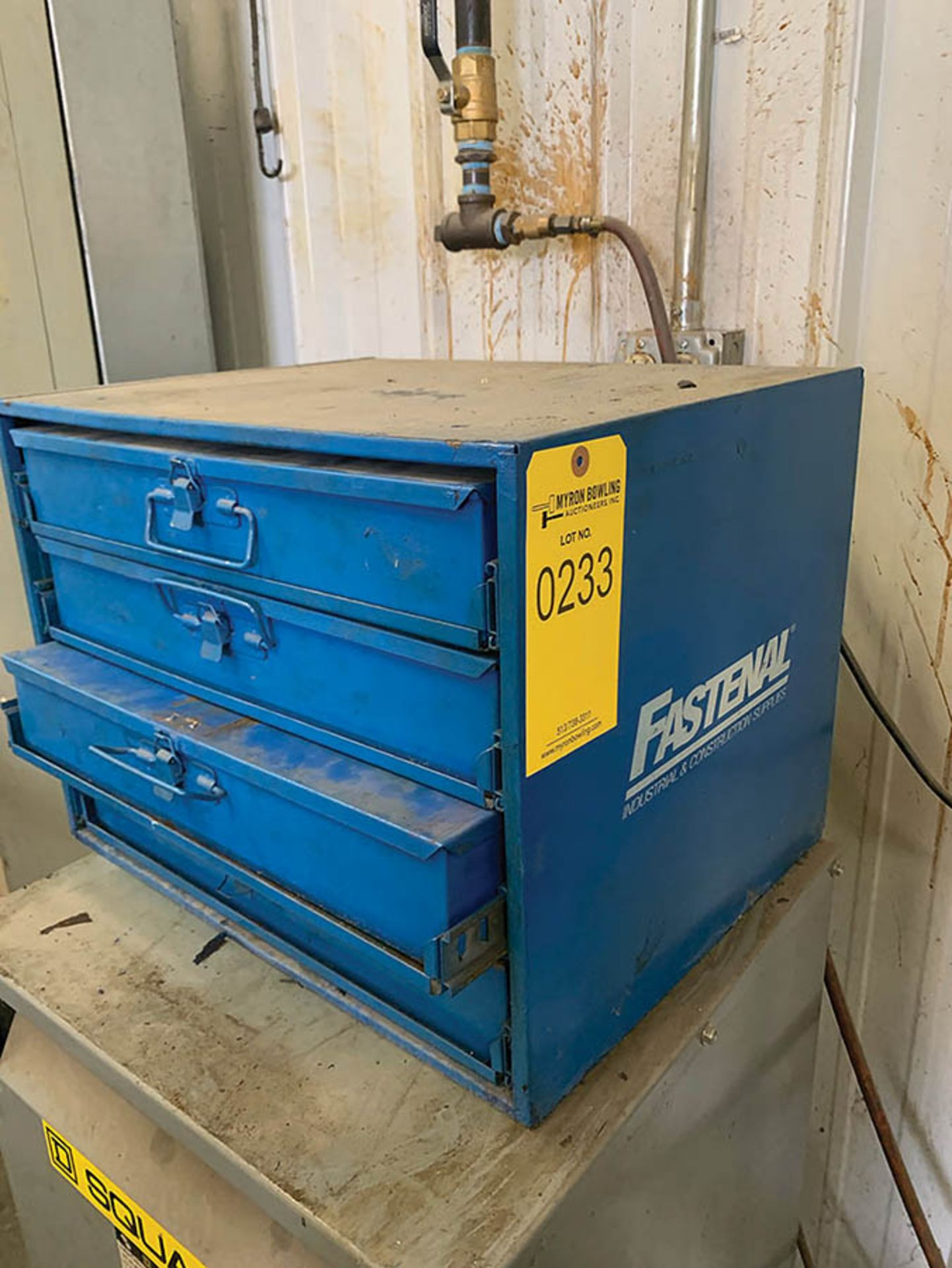 Lot 233 - FASTENAL CABINET W/ ASSORTED FASTENERS