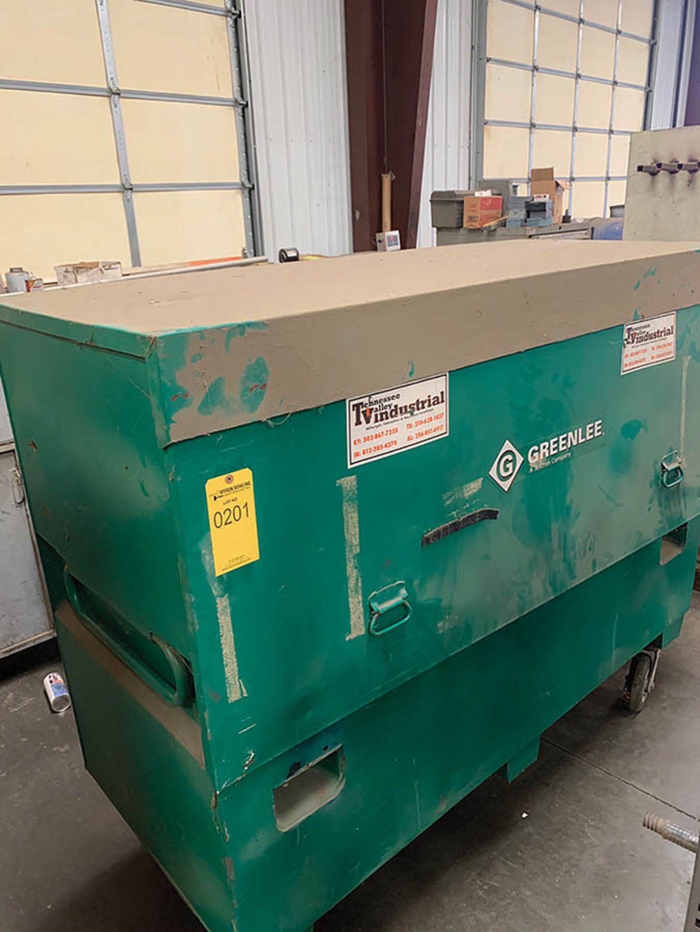 Lot 201 - GREENLEE JOB BOX ON CASTERS
