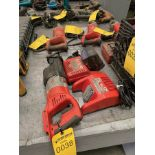 MILWAUKEE CORDLESS SAWZALL WITH (2) CHARGERS