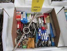 ASSORTED CUTTERS, HEX DIES, AND COUNTERSINK DRILLS