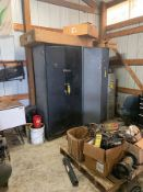 (2) CABINETS, FILING CABINET AND ASSORTED PARTS ON SKID