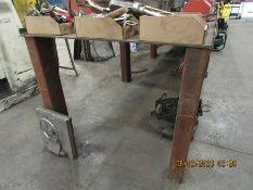 METAL WELDING TABLE 48 1/2'' X 120'' X 38''