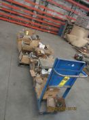 ASSORTED NUTS, BOLTS AND WASHERS W/ CART