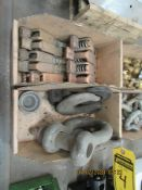 CLEVIS HOOKS, COPPER CLAMPS, BRASS FITTINGS, TIRE CHAINS, AND TRAILER TIE-DOWNS