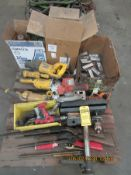 ASSORTED ELECTRIC TOOLS, COLEMAN LANTERN PARTS, BB GUNS, AND GE BALLAST