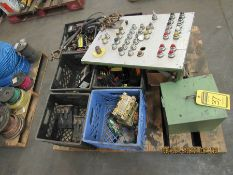 ASSORTED ELECTRICAL ITEMS, SAFETY SWITCHES, MOTOR STARTERS, LARGE ENCLOSURE, STAINLESS ENCLOSURE