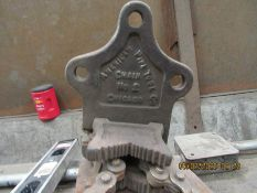 SHEET METAL LIFTER, AMERICAN PIPE TOOL CHAIN, AND NO. 2 CHAIN VISE