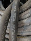 LARGE QUANTITY OF HOSE, GATES CONNECTED M500-08 1/2 (AS.5MM) 500 PSI WP FLAME RESISTANT