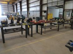 (4) ASSORTED STEEL TABLES