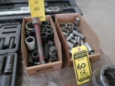 ASSORTED SOCKETS IN (2) BOXES