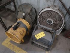 (4) ASSORTED FANS
