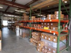 CONTENTS OF PALLET RACKING - NITRICE GASKETS & CONE PACKING; PAINT; FLANGE BOLTS; FLANGE GASKETS;