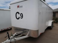 2018 20' NATIONWIDE ENCLOSED T/A TRAILER, CONTENTS INCLUDED VIN # 3R9BF2025K1202415