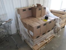 (38) BOXES OF 12 ROLLS 4'' X 100' X .010 PIPE TAPE; (3) PCC CONTAINERS, LARGE POLY FITTERS,