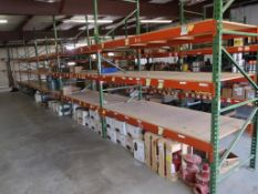 CONTENTS OF RACKING - FLANGES, BLINDS, KIMRARY VALVES & REGULATOR, ASSORTED FASTENERS