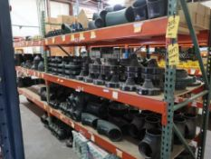 CONTENTS OF PALLET RACKING - ASSORTED STEEL WELD FITTINGS, FLANGES, POP-UP VALVES, FLANGES,