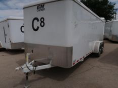 2018 20' CM ENCLOSED T/A TRAILER, CONTENTS INCLUDED VIN # 49TCB2029K1029454