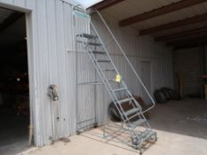 11-STEP ULINE ROLLING STAIRS, MODEL 10316