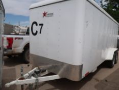 2018 20' NATIONWIDE ENCLOSED T/A TRAILER, CONTENTS INCLUDED VIN # 3R9BF2027K1202416