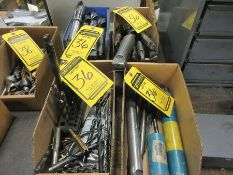(4) BOXES W/ ASSORTED DRILL BITS, INDEX W/ DRILL BITS