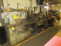 MONARCH 2516-22X96 ENGINE LATHE, 18'' 4-JAW CHUCK, TOOL POST, STEADY REST, NEWALL DP700 D.R.O.,