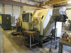 1998 OKUMA LB35II CNC TURNING CENTER, KITAGAWA 15'' 3-JAW CHUCK, TAILSTOCK, 12-POSITION TOOL