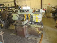 HYD-MECH S-20A AUTOMATIC HORIZONTAL BAND SAW, S/N 80100800, APPROX. 20'' X 112'' FEED TABLE & 19'' X