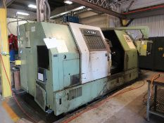 1993 OKUMA LB35II CNC TURNING CENTER, KIATAWA B15 15'' 3-JAW CHUCK, TAILSTOCK, 12-POSITION TOOL