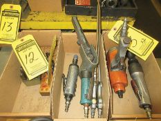 ASSORTED PNEUMATIC TOOLS: PIT PRO 1/4'' DIE GRINDER, DYNABRADE DYNAFILE II & AIR GUN'S