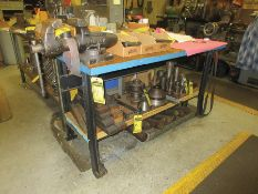 28'' X 60'' WORKBENCH W/ WILTON 4 1/4'' BENCH VISE, ASSORTED TOOLING
