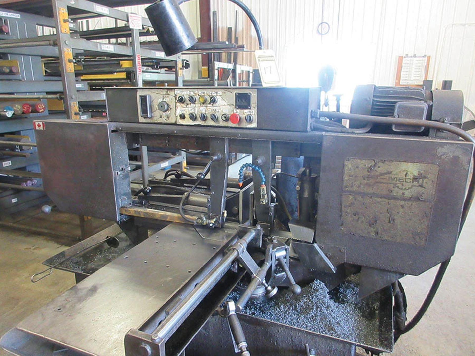 Lot 17 - HYD-MECH S-20A AUTOMATIC HORIZONTAL BAND SAW, S/N 10586134, APPROX. 19'' X 100'' FEED TABLE & 18'' X