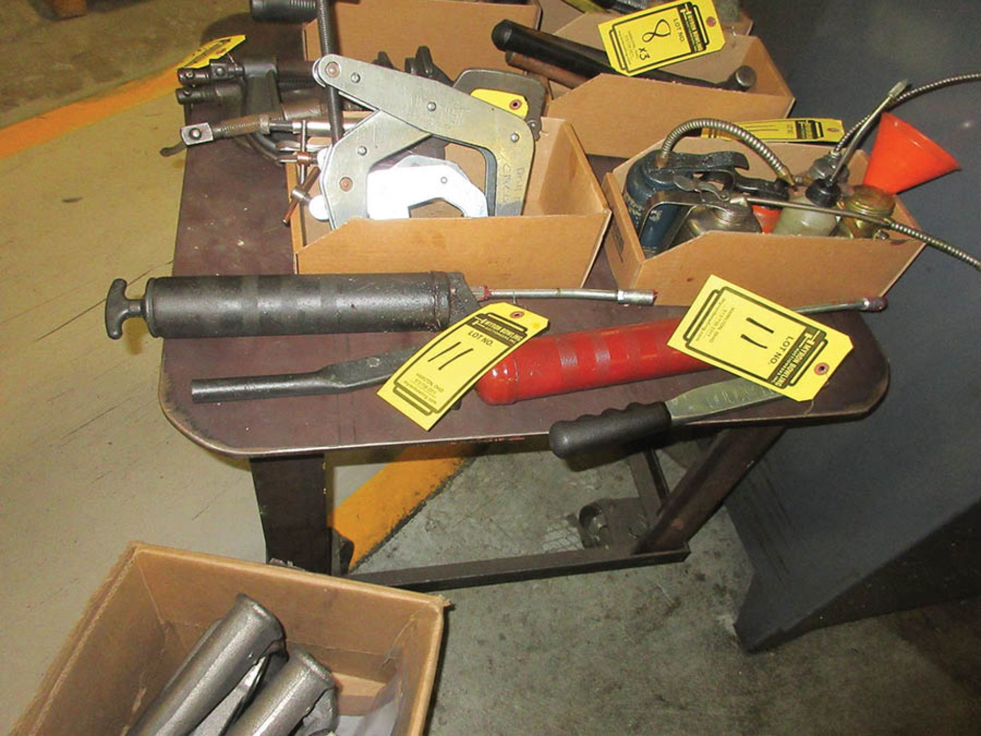 Lot 11 - ASSORTED GREASE GUNS & OIL CANS