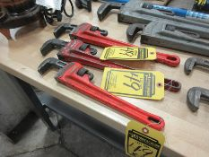 RIDGID & TASK FORCE 18'' & 14'' PIPE WRENCHES