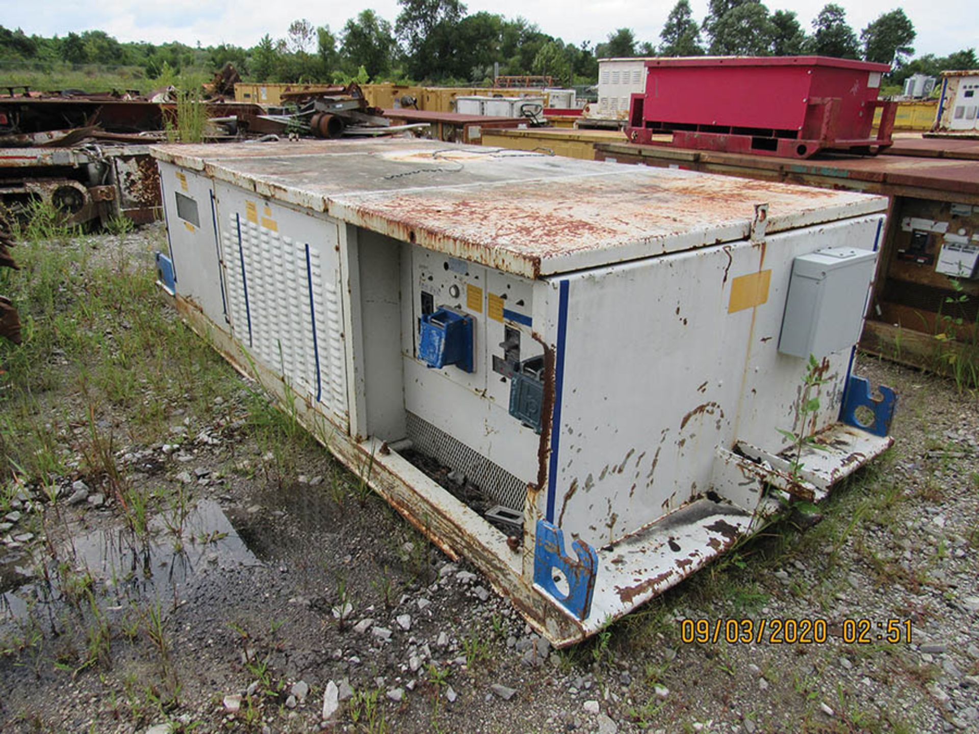 Lot 739 - LINE POWER CO. MODEL 300 PBC POWER CENTER, S/N 5895, 12470 VAC. 30 60 HZ IN, AC POWER OUT 480 VAC 30