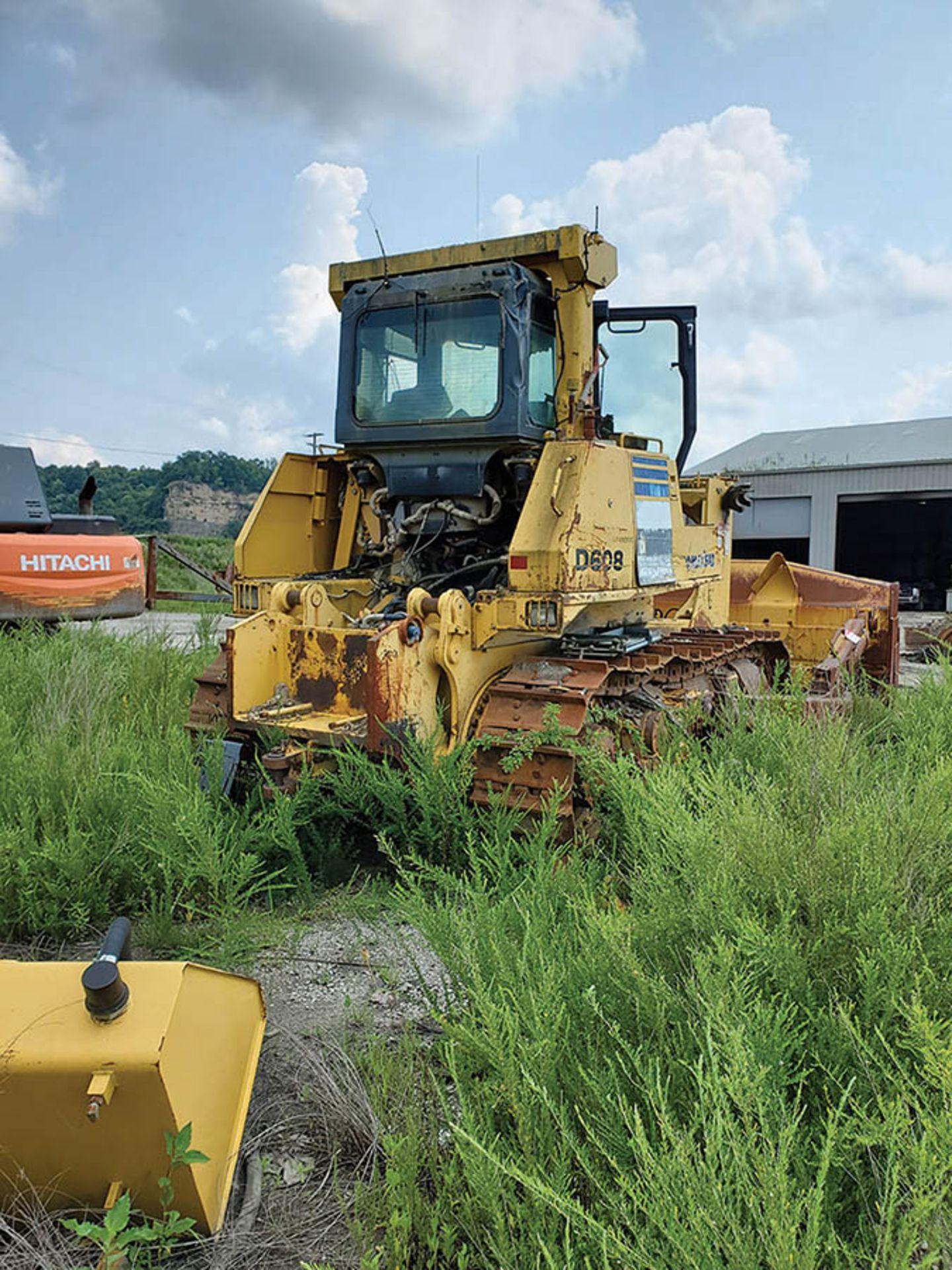 Lot 111 - KOMATSU D 275SX DOZER, S/N: 30118, NO ENGINE, 24'' WIDE METAL TRACKS, 13'6'' WIDE DOZER BLADE, FOR