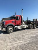 2008 MACK GU713 T/A DAY CAB TRACTOR, MAXITORQUE 18 SPEED TRANS., WET LINES INLINE SIX MACK DIESEL