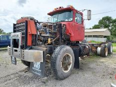 MACK T/A DAY CAB TRACTOR, MACK INLINE SIX DIESEL ENGINE, KCT 2, LOCATION: MARCO SHOP