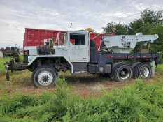 5-TON 6X6 M-SERIES, MFD. BY JEEP CORP 1970, 5-SPEED, FRONT & REAR WINCH WITH TELESCOPING CRANE,