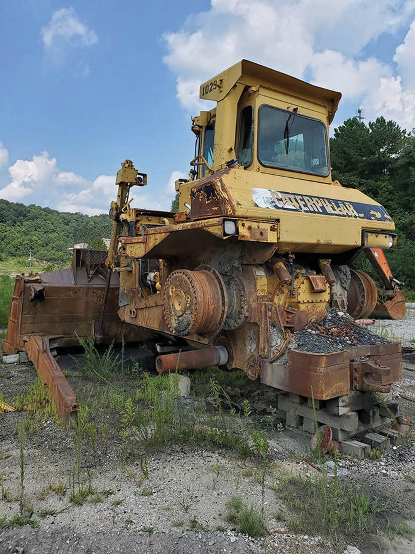 Lot 110 - CATERPILLAR D9N DOZER, CAT 3408 DIESEL ENGINE, S/N: 1JD01029, 46,326 HOURS SHOWING, 14' WIDE DOZER