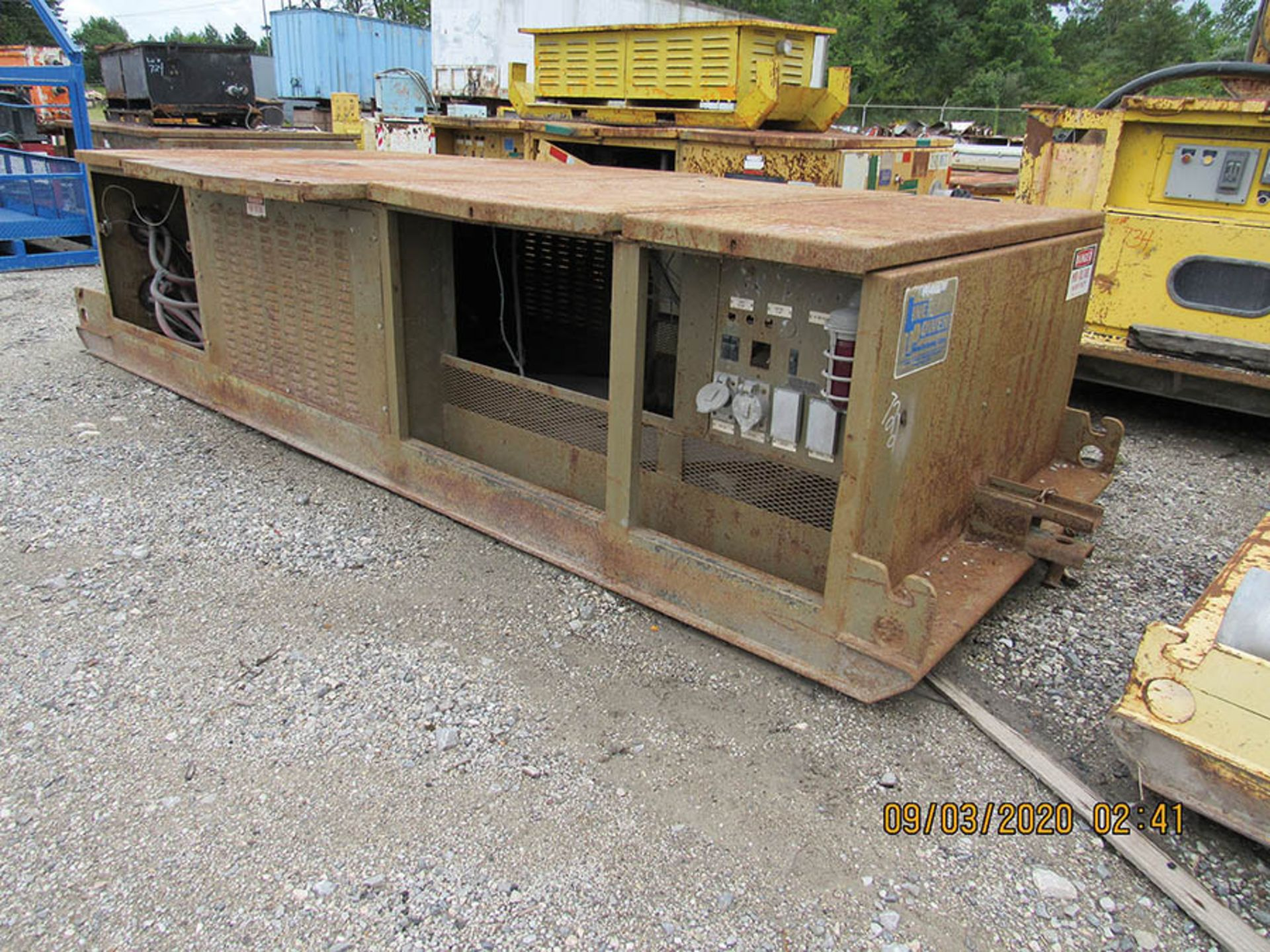 Lot 722 - LINE POWER CO. MODEL 300PC POWER CENTER, S/N 9937/R1898, 12470 INPUT AC OUTPUT 480 VAC 3-PHASE 60HZ