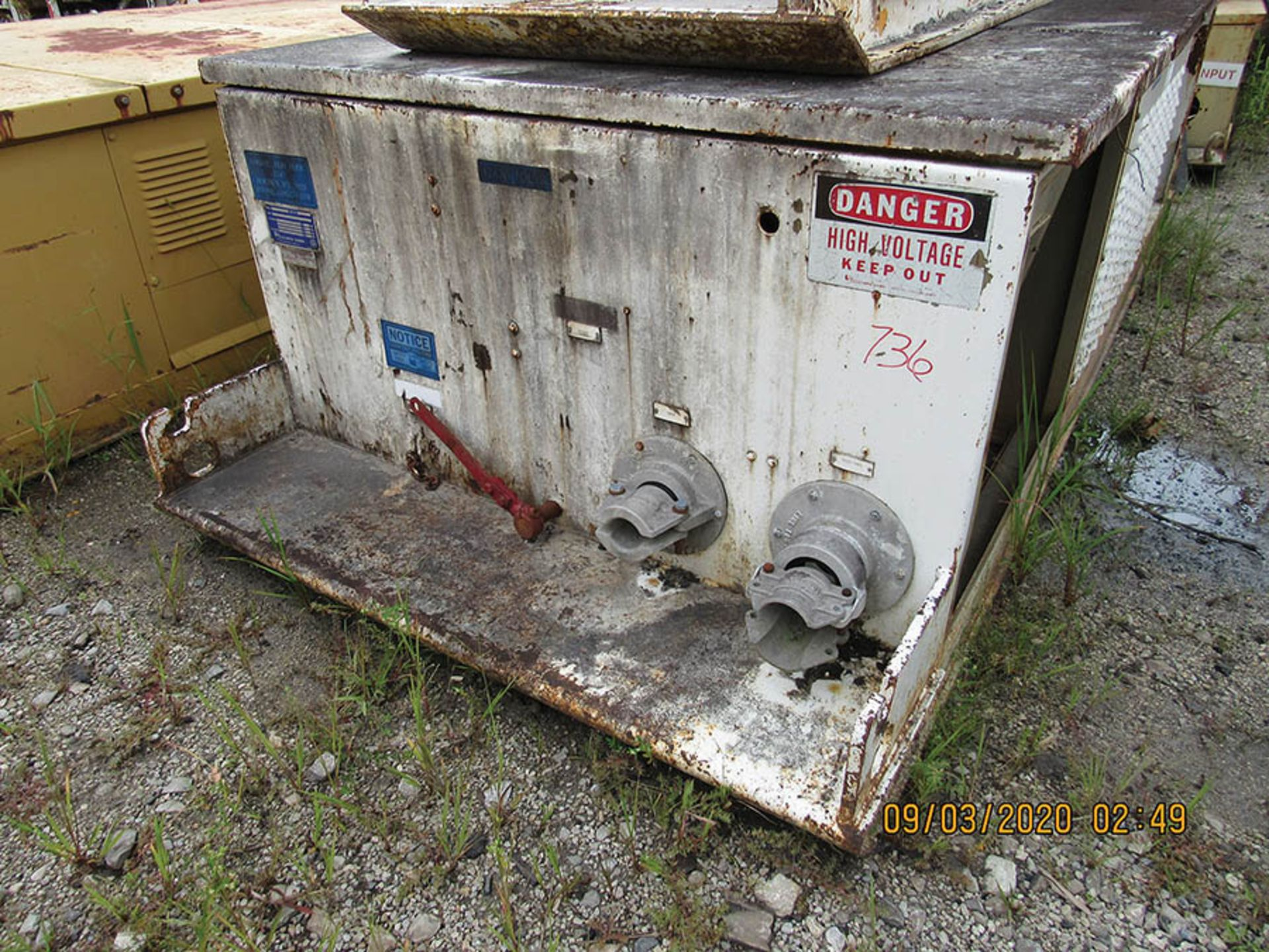 Lot 736 - LINE POWER CO. MODEL 300 PC POWER CENTER, S/N R1930, INPUT 12470 VAC 3 PH. 60HZ, AC OUT 480 VAC.