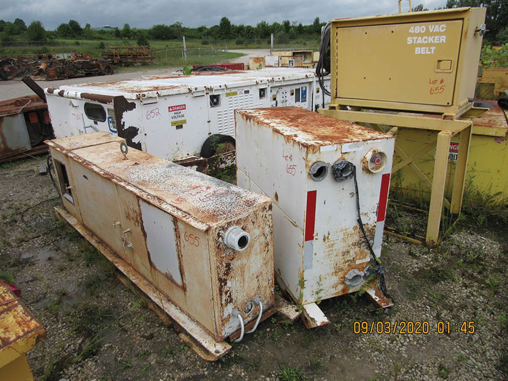 Lot 655 - (3) POWER SUPPLY BOXES, INFORMATION N/A